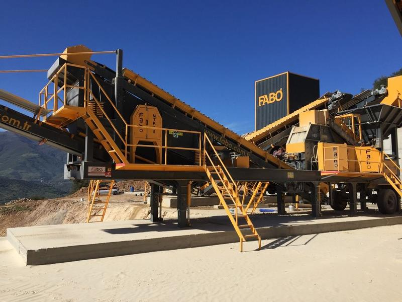 Fabo MOBILE SYSTEM TERTIARY IMPACT CRUSHER TO GET FINE SAND 0-5mm cr