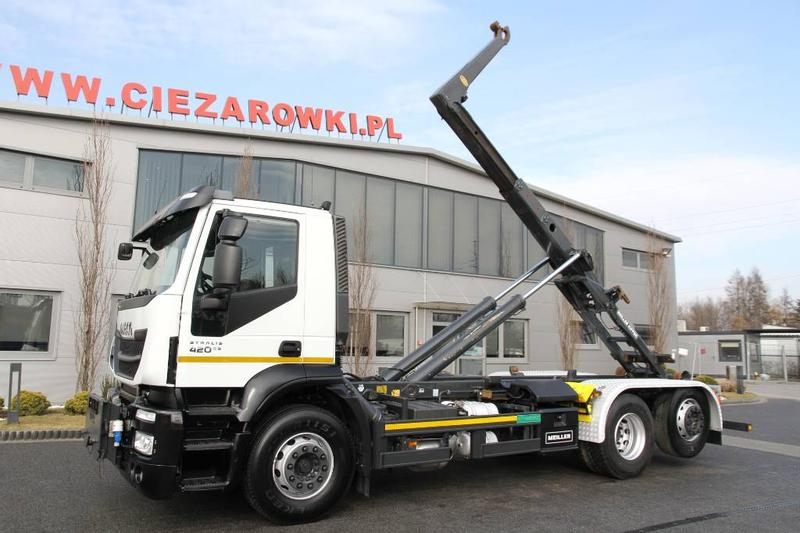 Iveco 6x2 STRALIS 420 E5 ROLL OFF TIPPER HOOKLIFT MEILLE