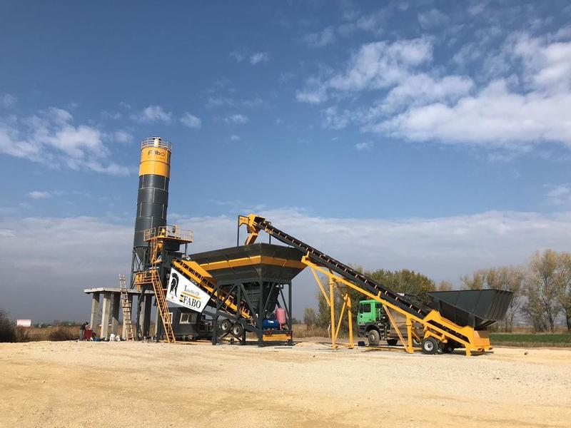 Fabo TURBOMIX-120 MOBILE CONCRETE MIXING PLANT | SPECIAL OFFER